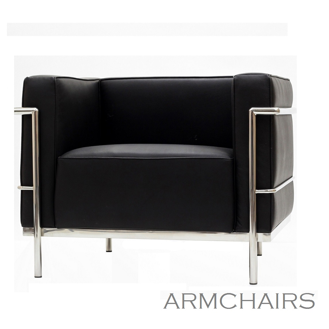 LC3- Armchair - Black-Location_Mobilier Design- De Lafaix, Paris, Luxembourg,Strasbourg ,Metz-Nancy