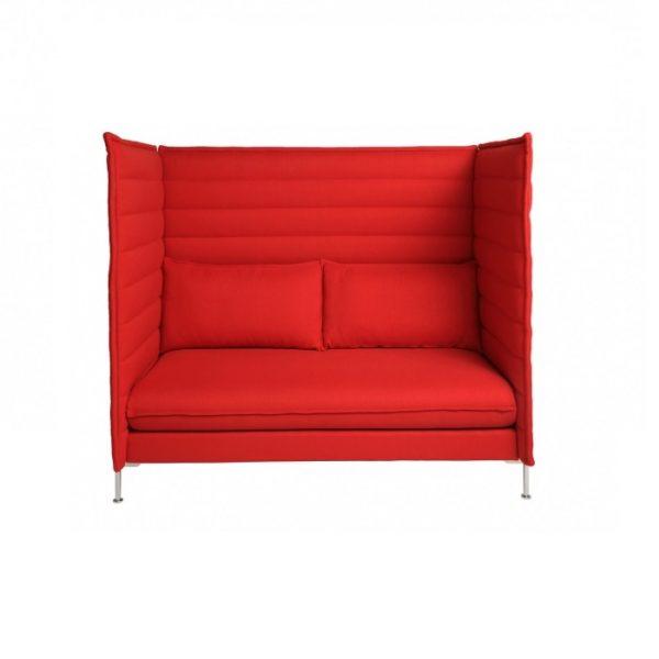 Alcove HighbackSofa in Red-rental-furniture in paris-france