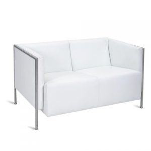 Tempest_ Sofa 2 -seater WHITE -rental-furniture in paris