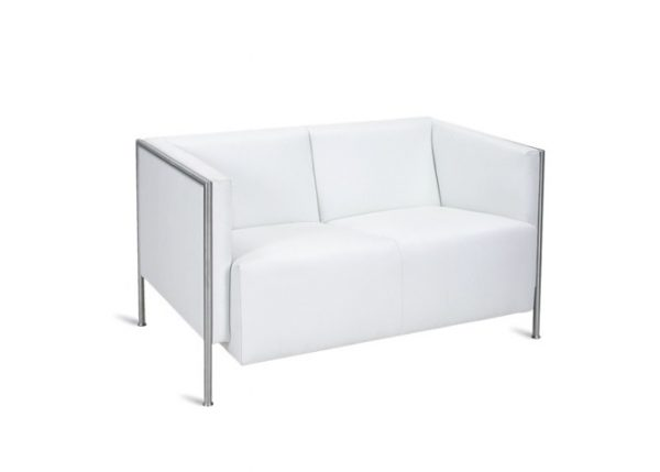 Tempest_ Sofa 2 -seater WHITE -rental-furniture in paris