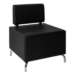 Armchair Cubos black- Rental-furniture in Paris-France
