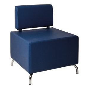 Armchair Cubos blue- Rental-furniture in Paris-France