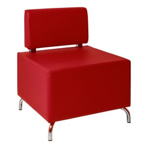 Armchair Cubos red- Rental-furniture in Paris-France