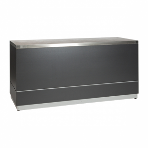 Bar anthracite with stainless steel tabletop-Rental-furniture in Paris-France