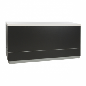 Bar anthracite with white tab- Rental-furniture in Paris-Franceletop