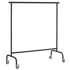 Black Metal Folding Garment- Rack rental paris -Show room Rental-furniture in Paris-France