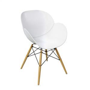 Chair Wendel - white -Rental-furniture in Paris-France