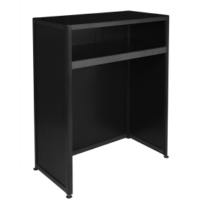 Counter without storage black-Rental-furniture in Paris-France