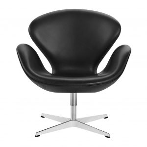 Fritz-Hansen_Swan-Chair leather rental-hire-furniture in paris-france