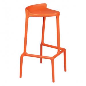 Glamour orange-Rental-furniture in Paris-France