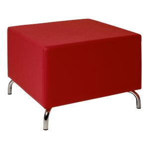 Pouf Cubos red -Rental-furniture in Paris-France