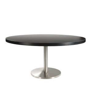 Table-Brio black 160 - Rental-furniture in Paris-France