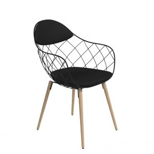 Zoug chair black - rental-furniture in paris-france
