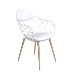 Zoug chair black - rental-furniture in paris-france