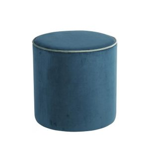 Design Lounge Rental Pouf-Softy-blue in Paris - France