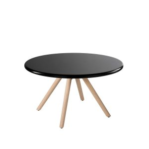 Table Horten black rental-hire-furniture in paris-france