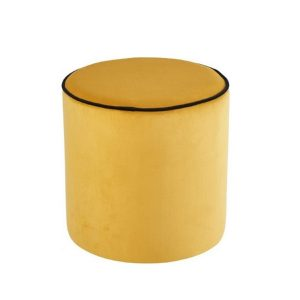 Design Lounge Rental Pouf-Softy-jaune in Paris France