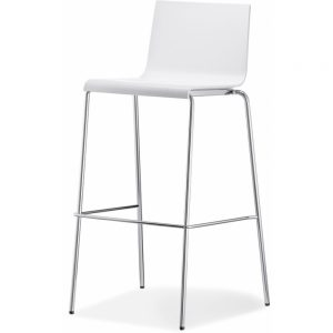 stool Kuadra_white rental-hire-furniture in paris-france_