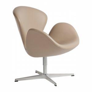 Fritz-Hansen_Swan-Chair leather rental-hire-furniture in paris-france
