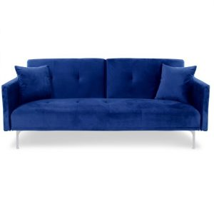 Sofa velours_bleu -Rental-furniture in Paris-France