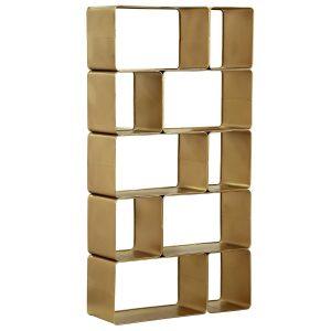 Summerland Gold Metal Shelf - Rental-furniture in Paris-France