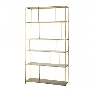 Gold Shelving – Showroom furniture hire in Paris