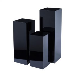 Plinths-for-hire white. pedestal Expo Rental-furniture in Paris-France