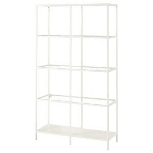 White Metal Shelving Expo Rental-furniture in Paris-France