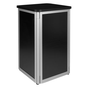 Display Pedestal - Black -Expo Rental-furniture in Paris-France