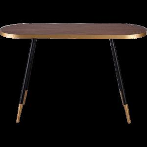 Desk Gold walnut - Rental-furniture Hire in Paris-France