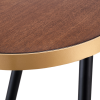 Desk Gold walnut - Rental-furniture Hire in Paris-France
