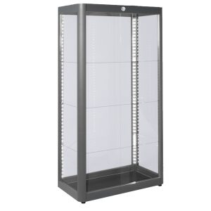 Showcase Tall Centre - Grey -Rental-furniture hire in Paris-France