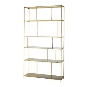 Montecito Gold Metal Shelf - Rental-furniture in Paris-France