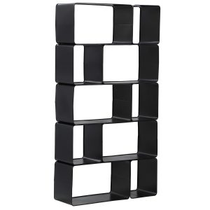 Summerland Black Metal Shelf - Rental-furniture in Paris-France