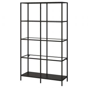 Black Metal Shelving Expo - Rental-furniture in Paris-France