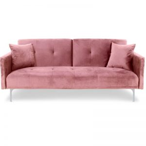 Sofa velours_pink -Rental-furniture in Paris-France