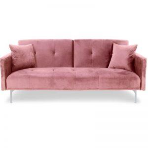 Sofa velours_pink -Rental-furniture in Paris-France
