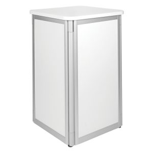 Display Pedestal - White -Expo Rental-furniture in Paris-France