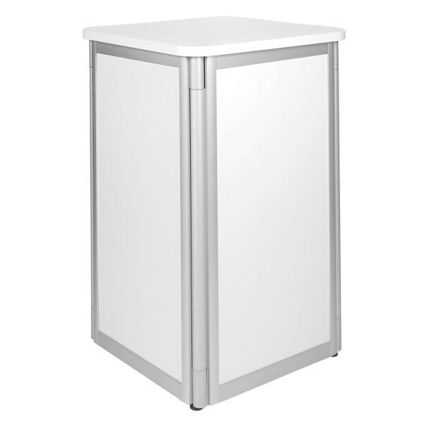 Display Pedestal - White -Expo Rental-furniture in Paris-France