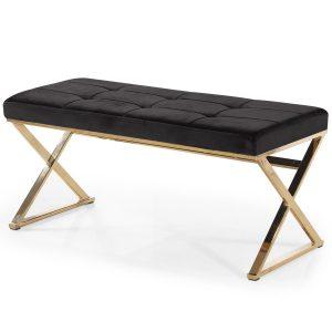 Bench ANNETTE Black-Showroom-Rental-furniture in Paris-France