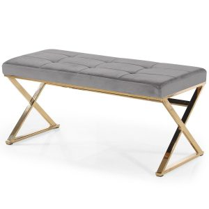 Bench ANNETTE Grey-Showroom-Rental-furniture in Paris-France