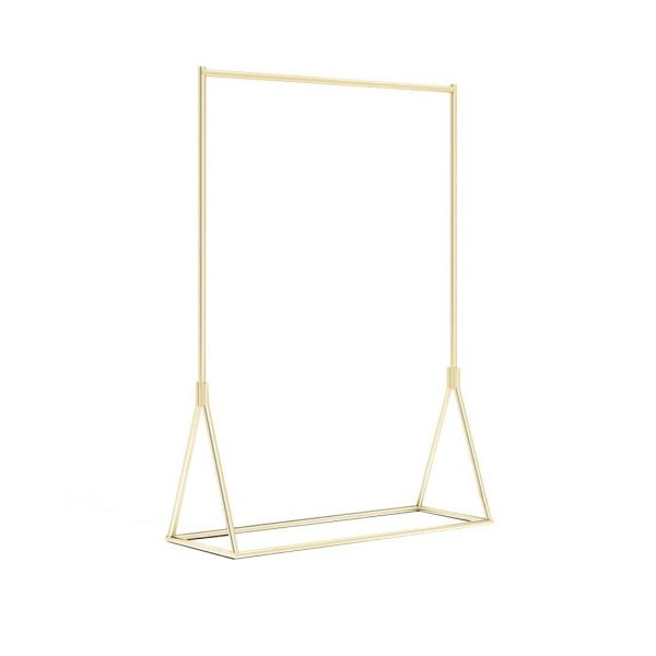Golden Metal Garment Rack - rental furniture Paris