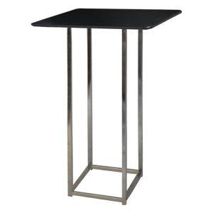 Table Kuadra-slim-black-Showroom-Rental-furniture in Paris-France